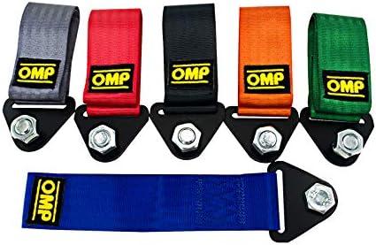 Aliaoforz OMP per Auto da Corsa Universale per rimorchio OMP JDM Corda da Traino in Nylon ad Alta Resistenza Cinghia di Traino per paraurti e rimorchio