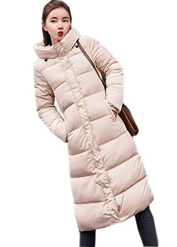 Ghope Femme Longue Hiver Chaud Manteau Longueur du Genou Manteaux Parka Jacket Fourrure avec Capuche Blouson Kahki