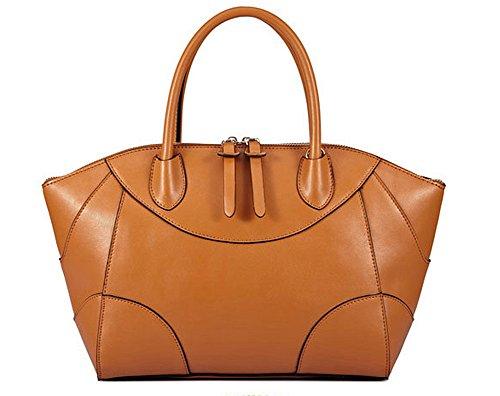 must have ereryday Fashion 100% leather smooth skin black Shoulder Bag/Satchel ( Big)
