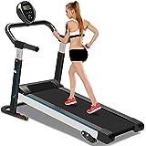 YTBLF Mechanical treadmill, silent folding mini walking machine, fitness equipment home treadmill, with 3 manual tilt settings,Black