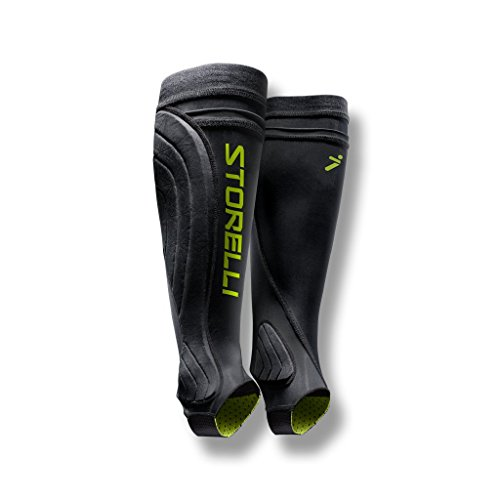 Storelli BodyShield Leg Guards | Protective Soccer Shin Guard Holders | Enhanced Lower Leg and Ankle Protection | Black | Youth Small