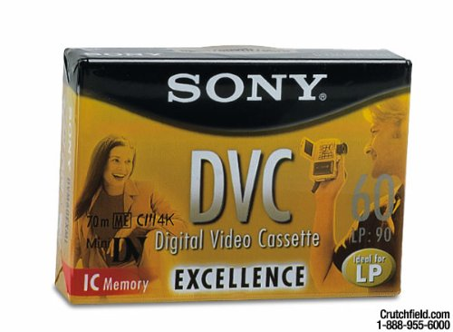 Sony 60 Minute DVC Excellence w/Memory Chip (Single) (Discontinued by Manufacturer)