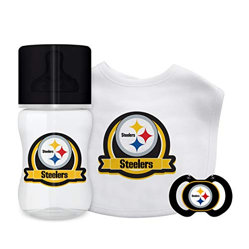 (Baby Fanatic NFL Pittsburgh Steelers Unisex PIS3033-Piece Gift Set - Pittsburgh Steelers, See Description, See Description)