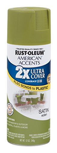 Rust-Oleum 284986 American Accents Ultra Cover 2X Satin, Each, Eden