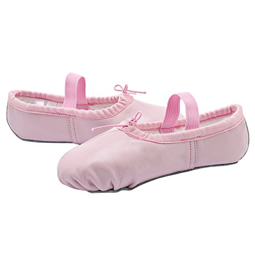 Sole Slippers Shoes Big Split Women Little For Leather Kid Ballet Kid Toddler Girls Pink Flats CIOR ISqYwAS