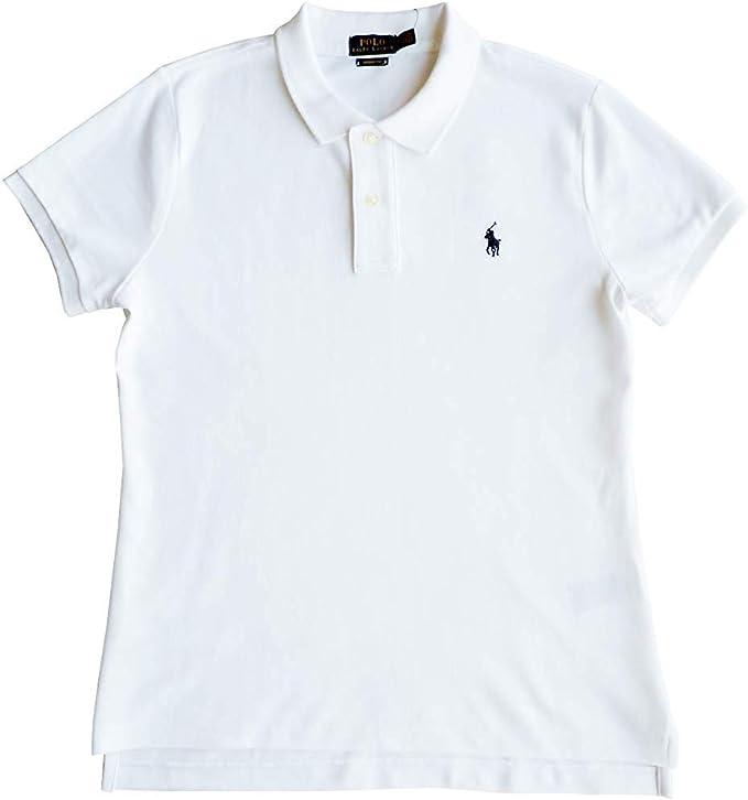 Polo Ralph Lauren Camisa de Polo Talla XL, Polo Flequillo, Blanco ...