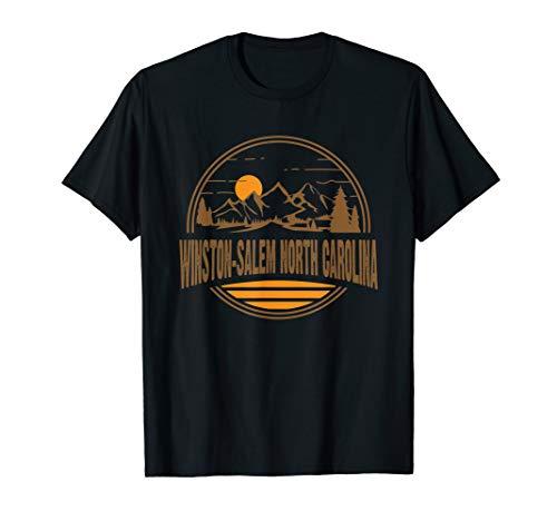 Vintage Winston-Salem North Carolina Mountain Hiking Print T-Shirt (Home Christmas Salem Children's Winston)