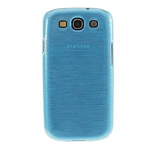 Piaopiao Purity Wire Drawing Smooth Half Transparent Back Case with High Definition Screen Protecter for Samsung Galaxy S3 i9300 , Blue