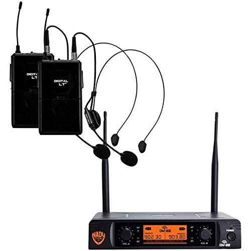 Microphone 900mhz Wireless (Nady(r) Dw-22-Hm-Any Dual-Transmitter Digital Wireless Microphone System (2 Digital Lt(tm) Hm-3 Headsets) 14.10in. x 12)