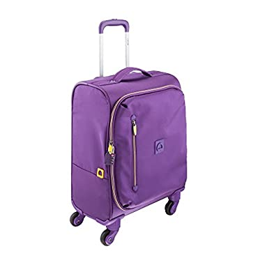 Delsey Luggage 18 Inch Foldable International Carry On Spinner Trolley, Purple, One Size