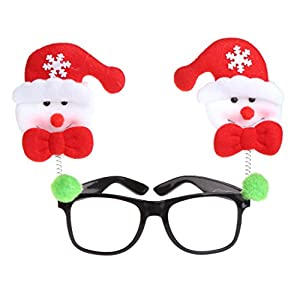 cici store Christmas Eyeglasses Frame,Party Costume Prop Ornaments Glasses