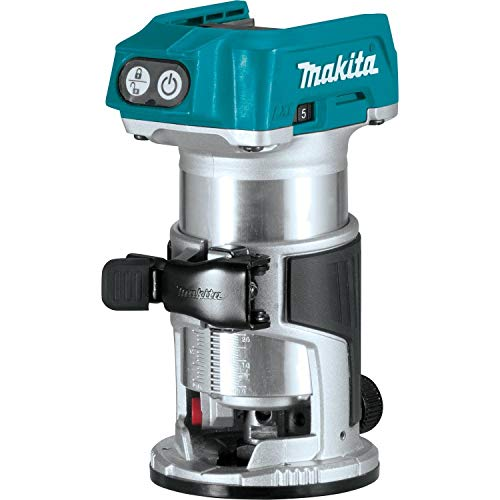 Makita XTR01Z 18V LXT Lithium-Ion Brushless Cordless Compact Router (Renewed)