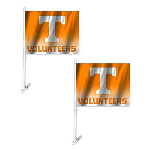 Fremont Die NCAA Tennessee Volunteers Ombre Car Flag (2 Pack), One Size, Orange