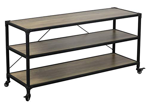 (eHemco Antique TV Stand and Entertainment Center with Wheels)