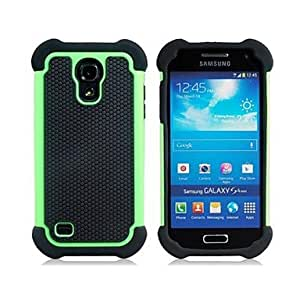 GFC H¨ªbrido Heavy Duty Rugged Hard y Soft Volver Funda para el Samsung Galaxy S4 Mini I9190(Assorted Colors) , Green