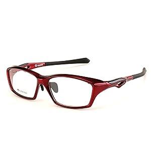 Langford Sports Eyeglasses Frame Men full frame Riding glasses Frame (Red, 56mm)