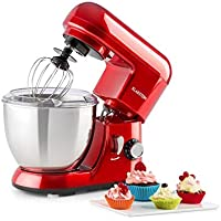 KLARSTEIN Pico   Tilt-Head Stand Mixer   Dough Hook, Flat Beater, Wire Whip   550 Watts   4.2 qt Stainless Steel Bowl   Planetary Mixing Action   6 Speeds   Multifunctional