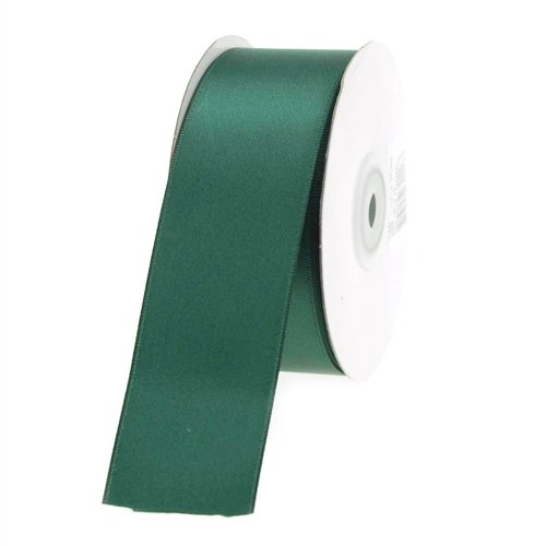 Homeford Firefly Imports Double Face Satin Ribbon, 1-1/2-Inch, 25 Yards, Hunter Green, 1.5