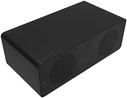 Induction Speaker Amplifies Audio Sound Box for HTC Samsung iPhone iPod Black