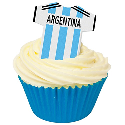 Price comparison product image 12 Edible Football Shirts- Argentina