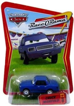Disney / Pixar CARS Movie 1:55 Die Cast Race-O-Rama Package Dinoco Lightning McQueen