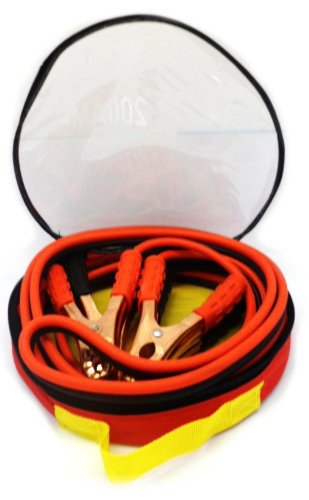 200 Amp 10 Gauge No Tangle Battery Booster Cables 12 Feet with Free Travel Case Jumper Cables Extra Long 12ft