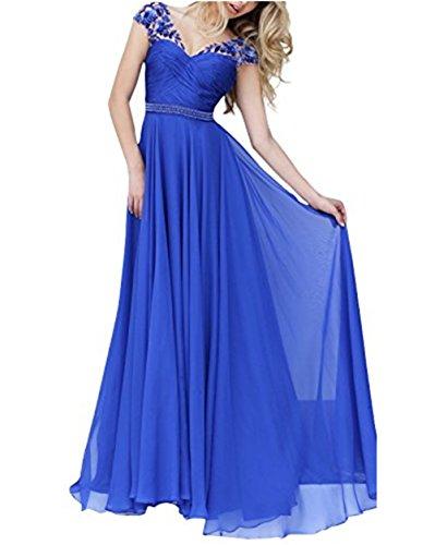 Huebsch Blau Bride Linie Lang blau Damen A Cocktail Ballkleider Dream Spitze Abendkleider ASqwTEgP1E