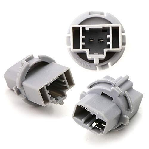 iJDMTOY Pair OE-Spec 7440 Back-Up Reverse Light Adapter Socket For Acura CL MDX RDX RL TL TSX Honda Accord CR-V Civic Element, etc