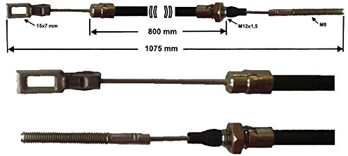 Câ ble de frein Peitz S234R - R234 / 76 HL: 800mm - GL: 1075 mm FKAnhängerteile