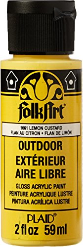 FolkArt Outdoor Acrylic Paint in Assorted Colors (2 Ounce), 1661 Lemon ()