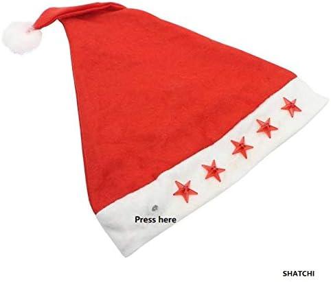 colore: rosso//bianco Cappellino natalizio con luci lampeggianti per adulti Gifts 4 All Occasions Limited SHATCHI-1001