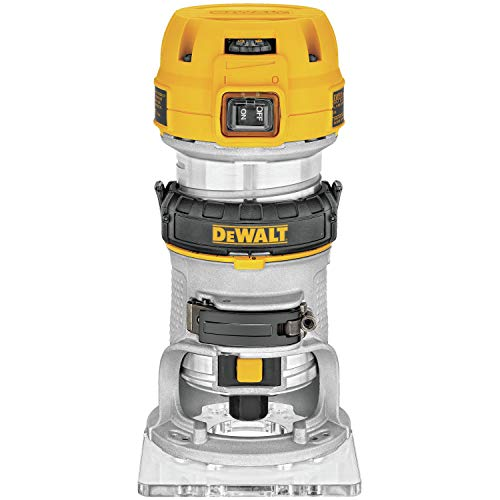 DEWALT DWP611 1.25 HP Max Torque Variable Speed Compact Router with Dual LEDs (Best 80 Lower Jig)