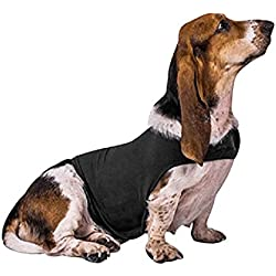 FREAHAP R Dog Anxiety Jacket Soft Cotton Pet Dog Calming Vest for Anxiety & Thunder Dark Grey M