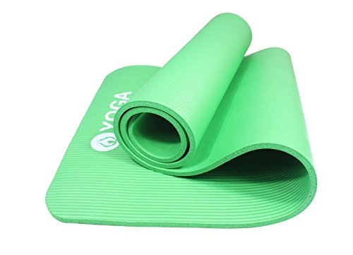 Premium Non-Slip Yoga Mat ✮ Extra Thick (10mm) ✮ NBR comfort foam Is Good For Your Knees And Back ✮ Eco Friendly Mat w/ Free Strap ✮ Best Mat for Home and Travel ✮ 100% Money Back Guarantee!