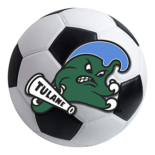 FANMATS NCAA Tulane University Green Wave Nylon Face Soccer Ball Rug