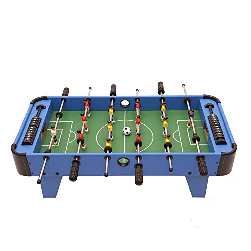 Foosball Table Kids/Folding Football Table,Deluxe Mini,Table Top Football,Foosball Family,Fun Gam,Suitable for People Over Three Years Old,Blue