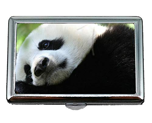 Hard Box Cigarette Case,Shirt Animal Panda Business Card Holder Business Card Case (Stainless Steel) ()