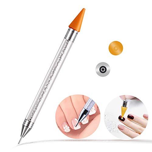 Ownsig Wax Rhinestone Picker, Nail Art Wax Tip Pencil Dotting Pen Applicator Tool for Nail Rhinestones Beads Studs Gems Crystal Jewel Diamond Stones ()