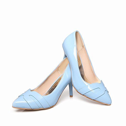 Latasa Womens adorable Pointed-toe High Heel Dress Wedding Pumps Light Blue FFNI3l