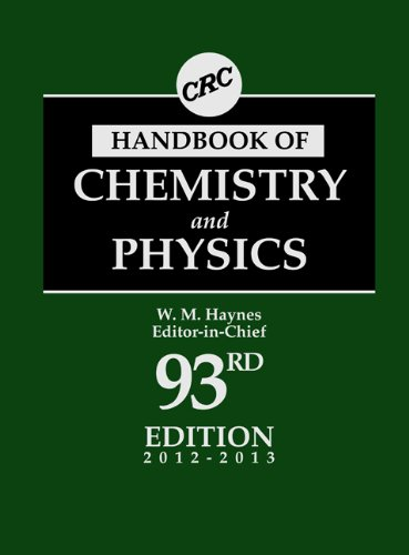 CRC Handbook of Chemistry and Physics, 93rd Edition (CRC Handbook of Chemistry & Physics)