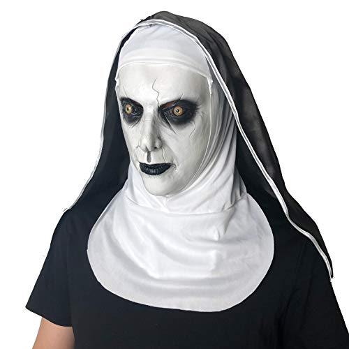 Demon Baby Halloween Prop (MCSY The Nun Mask Horror Props Scary Cosplay with Hood for Halloween Party (The Nun))