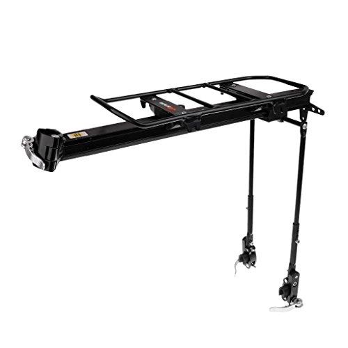 MagiDeal Fahrrad Gepäckträger 50kg für Sattelstütze Schnellspanner + Montagezubehör