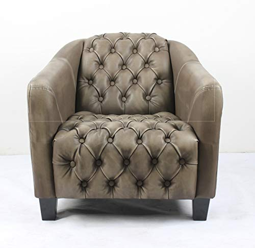 Bombay L3013AC2350 Nottingham Button Tufted Lounge Chair, Sable