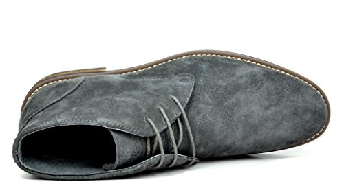 e4d4218f5b3f5 Bruno Marc Men's URBAN-01 Grey Suede Leather Lace up Oxfords Desert Boots -  11