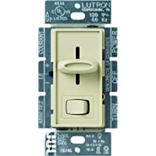 Lutron Skylark C.L Dimmer Switch for Dimmable LED, Halogen and Incandescent Bulbs, Single-Pole or 3-Way, SCL-153P-IV, Ivory