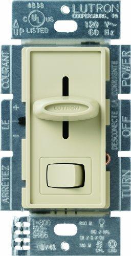 Lutron SCL-153P-IV Skylark CL 150-watt CFL/LED/Incandescent Dimmer, Ivory ()