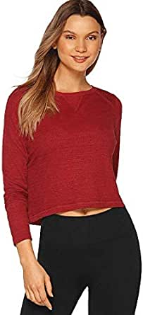 Lorna Jane Women's Unwind Cropped Long Sleeve Top