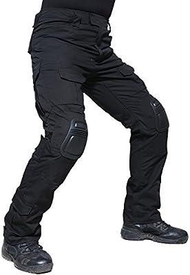 TACVASEN Hombres Negro Militar Pantalones Ripstop Algodón Táctico ...