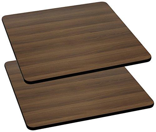 FLASH Furniture 2 Pk. 36'' Square Walnut Laminate Table Top