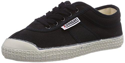 Kawasaki Rainbow Basic - Zapatillas de deporte Unisex adulto negro - Schwarz (Black/wht sole / 60)